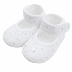 Dojčenské capačky New Baby strieborno-biele 0-3 m