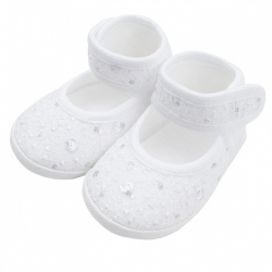 Kojenecké capáčky New Baby stříbrno-bílé 0-3 m