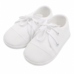 Kojenecké capáčky tenisky New Baby bílé 6-12 m