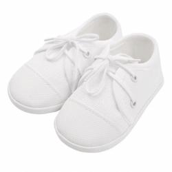 Dojčenské capačky tenisky New Baby biele 6-12 m