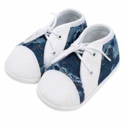 Dojčenské capačky tenisky New Baby modré 6-12 m