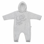 Zimní kombinézka New Baby Winter Elephant světle šedá