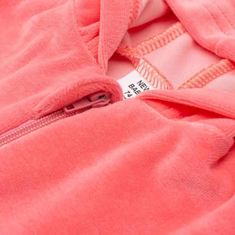 Semišková mikinka s kapucí New Baby Baby růžová