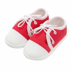 Dojčenské capačky tenisky New Baby červené 6-12 m