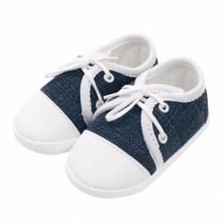 Dojčenské capačky tenisky New Baby jeans modré 3-6 m