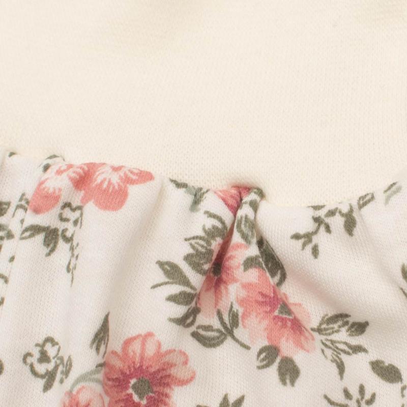 Kojenecké tepláčky New Baby Flowers béžové