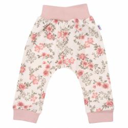 Kojenecké tepláčky New Baby Flowers růžové