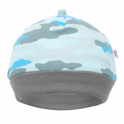 Dojčenská bavlnená čiapočka New Baby With Love modrá