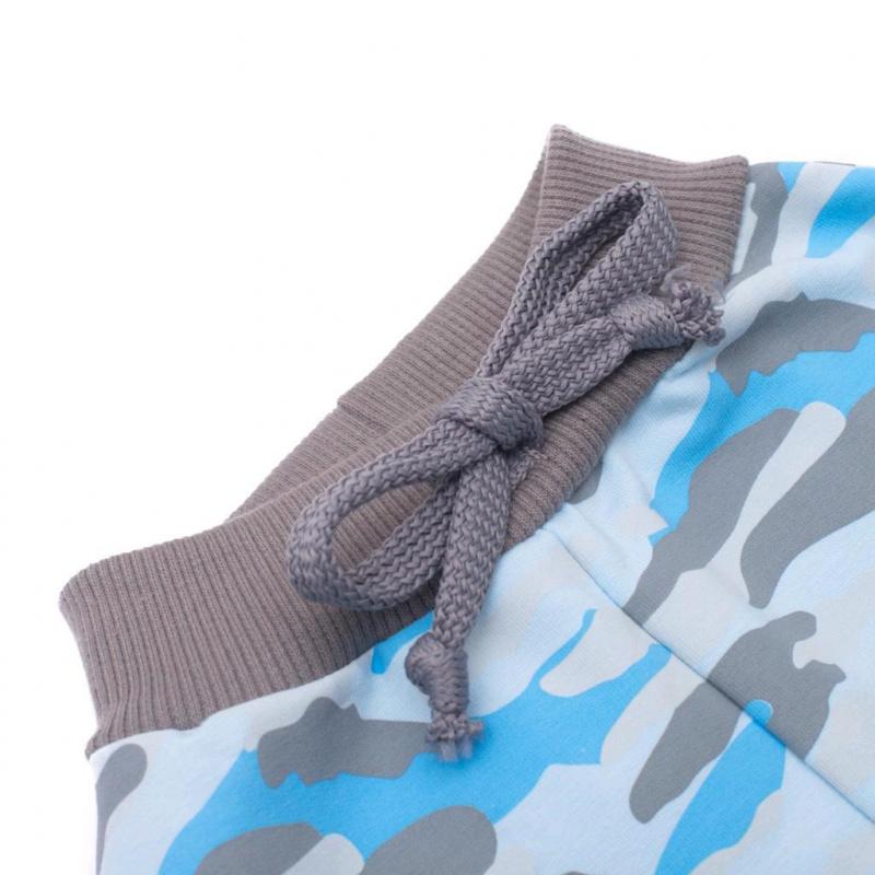 Kojenecké bavlněné tepláčky New Baby With Love modré