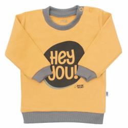 Kojenecké tričko New Baby With Love hořčicové