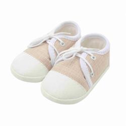 Dojčenské capačky tenisky New Baby jeans béžove 0-3 m