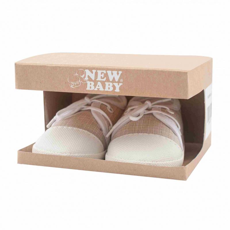 Kojenecké capáčky tenisky New Baby jeans béžové 6-12 m