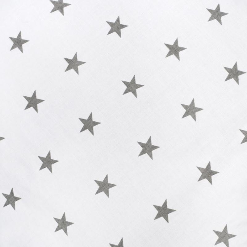Pościel 2-częściowa New Baby 100/135 cm szare gwiazdki