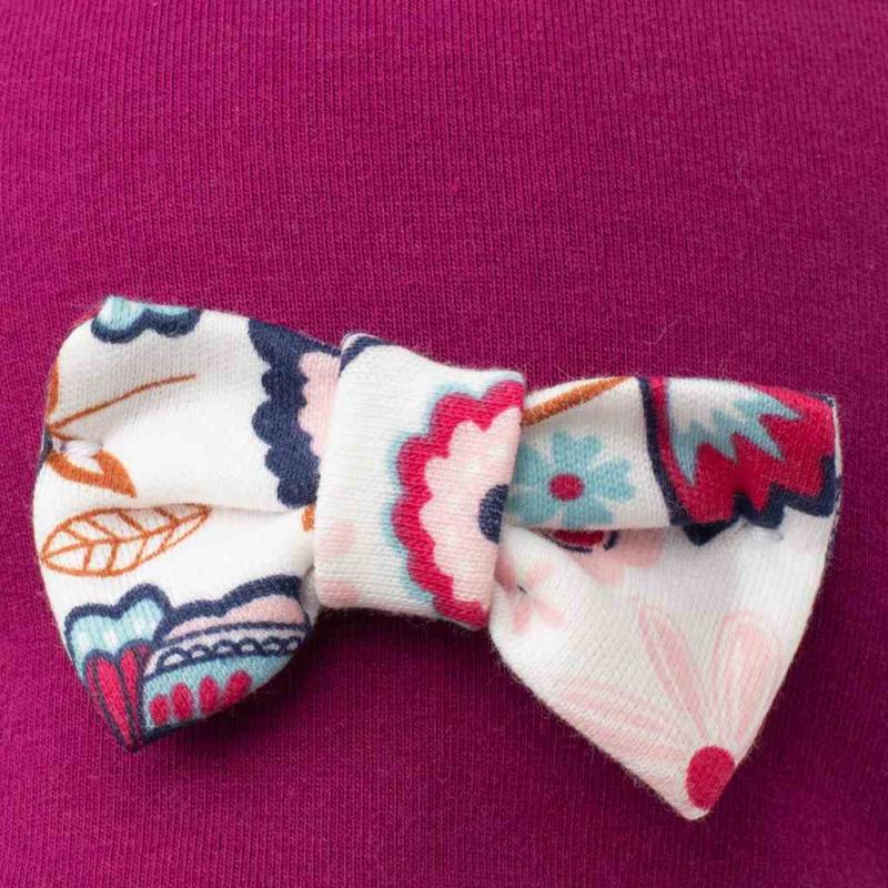 Dojčenská čiapočka s šatkou na krk New Baby Missy fialová
