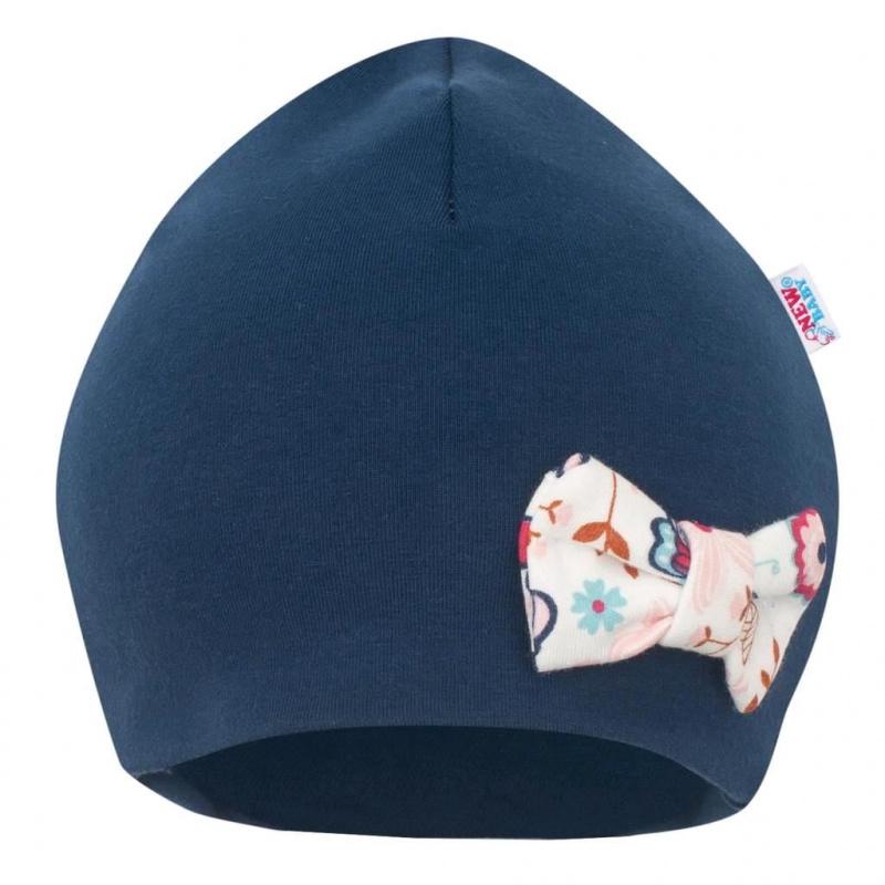 Kojenecká čepička s šátkem na krk New Baby Missy modrá