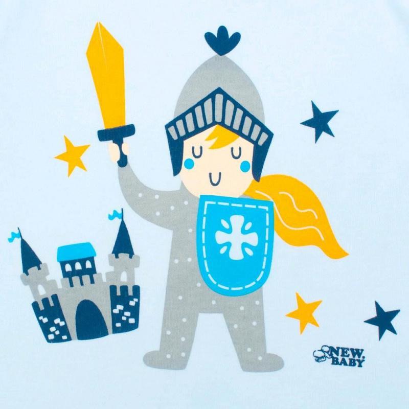 2-dielna kojenecká bavlnená súpravička New Baby Knight