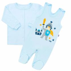 2-dílná kojenecká bavlněná soupravička New Baby Knight