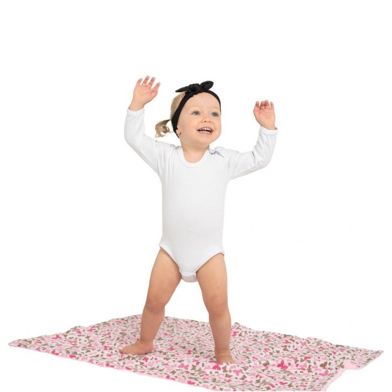 Luxusné body dlhý rukáv New Baby - biele