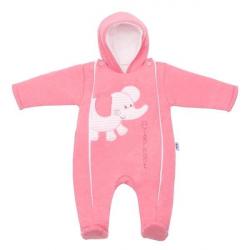Zimní kombinézka New Baby Winter Elephant růžová