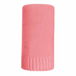 Bambusová pletená deka NEW BABY 100x80 cm červená