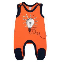 Kojenecké bavlněné dupačky New Baby Happy Bulbs