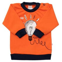 Kojenecké bavlněné tričko New Baby Happy Bulbs