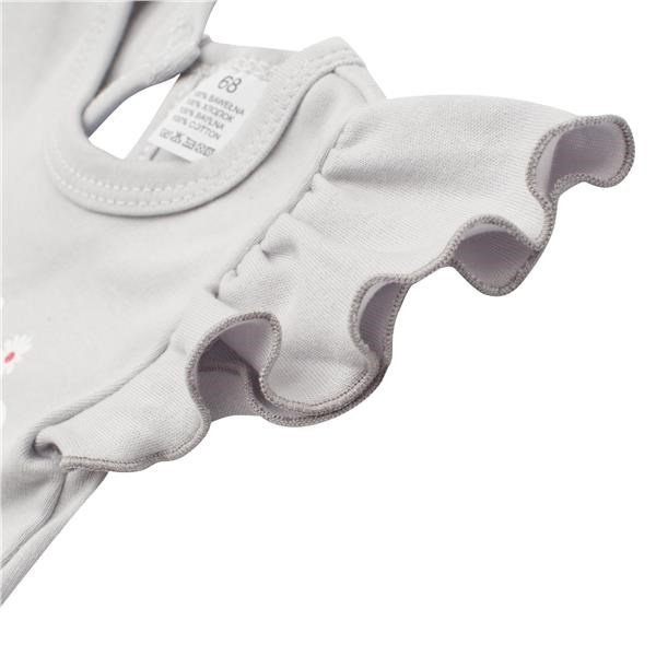 Kojenecké letní bavlněné šatičky s čelenkou New Baby Happy Flower šedé