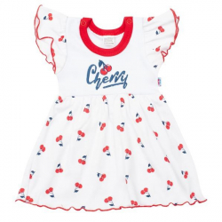 Dojčenské bavlnené šatičky New Baby Cherry