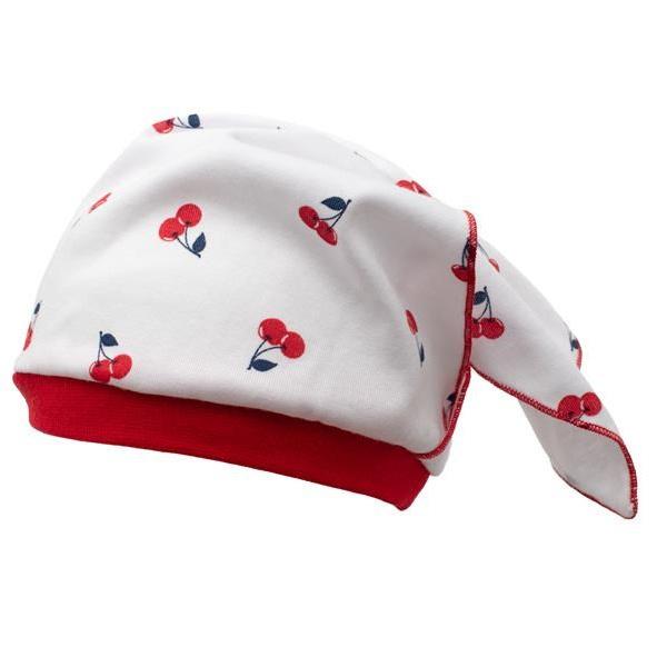 Dojčenská bavlnená čiapočka-šatku New Baby Cherry