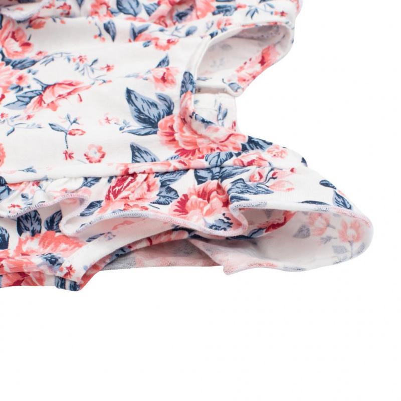 Kojenecký letní bavlněný overal New Baby Roses smetanovo-růžový
