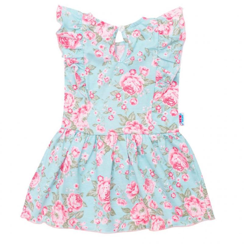Dojčenské letné bavlnené šatôčky New Baby Roses