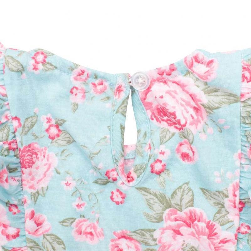 Dojčenský letný bavlnený overal New Baby Roses