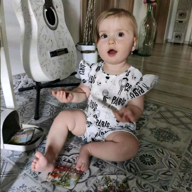 Dojčenský letný bavlnený overal New Baby Paris