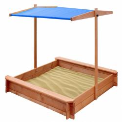Dětské dřevěné pískoviště se stříškou NEW BABY 120x120 cm modré