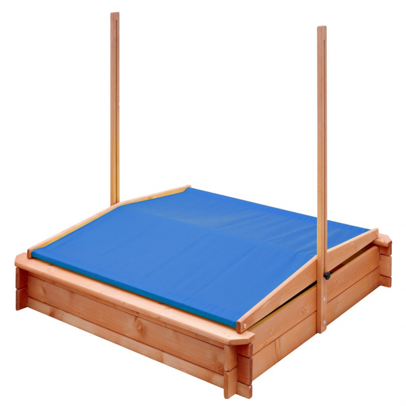 Detské drevené pieskovisko so strieškou NEW BABY 120x120 cm modré