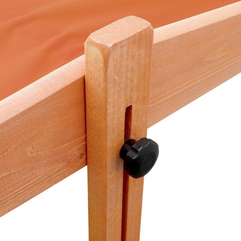 Dětské dřevěné pískoviště se stříškou NEW BABY 120x120 cm oranžové