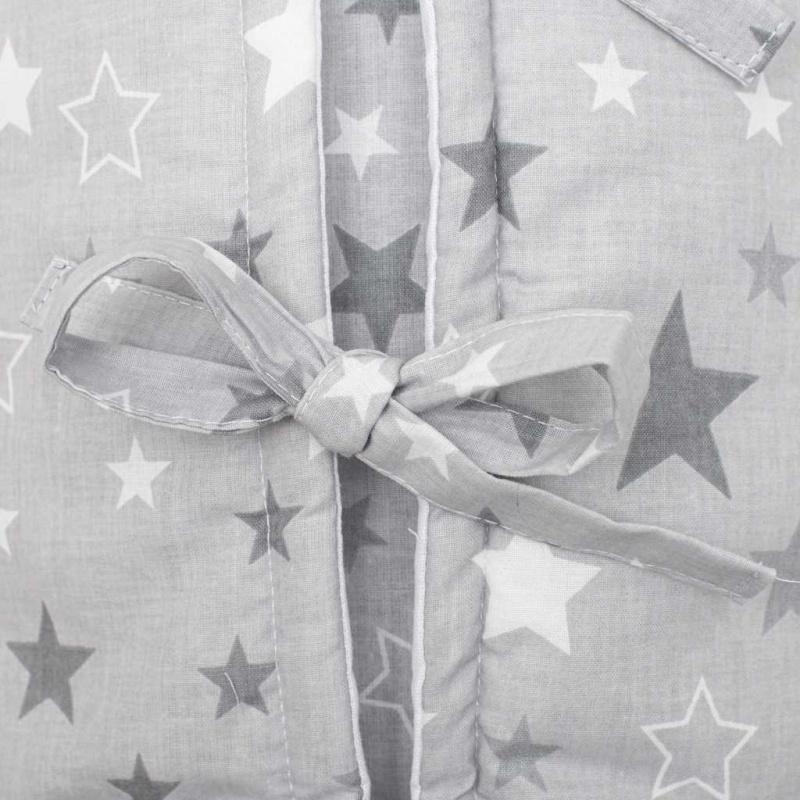Klasická šnurovacie zavinovačka New Baby JACKET šedá hviezdičky sivé
