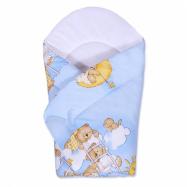 Detská zavinovačka New Baby Medvedík modrá