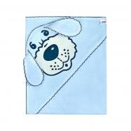 Dětská froté osuška 80x80 pejsek modrá