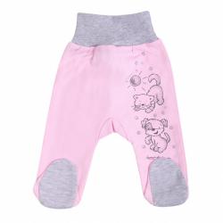 Dojčenské polodupačky New Baby Kamaráti ružové