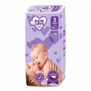Detské jednorazové plienky New Love Premium comfort 3 MIDI 4-9 kg 48 ks