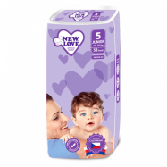 Detské jednorazové plienky New Love Premium comfort 5 JUNIOR 11-25 kg 38 ks