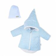 Zimné dojčenský kabátik s čiapočkou Nicol Kids Winter modrý
