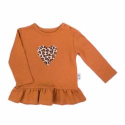 Dojčenské bavlnené tričko Nicol Mia hnede