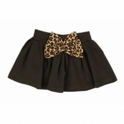 Kojenecká bavlněná suknička Nicol Mia tmavě hnědá