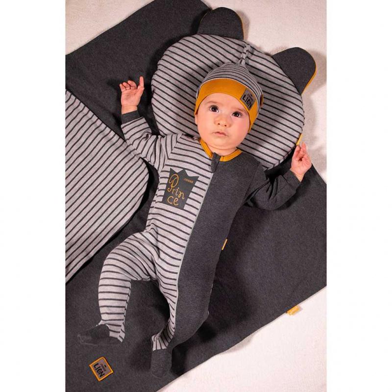 Dojčenský bavlnený overal Nicol Prince Lion
