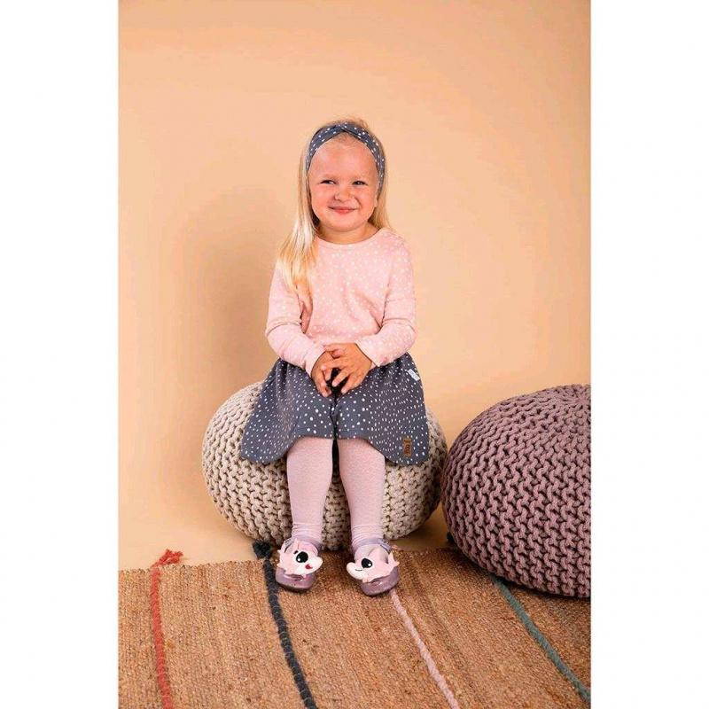 Dojčenská bavlnená suknička Nicol Rainbow šedá
