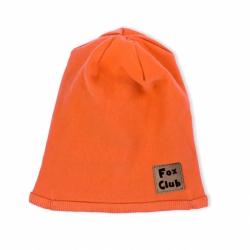Dojčenská bavlnená čiapočka Nicol Fox Club oranžová