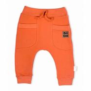 Dojčenské bavlnené tepláčky Nicol Fox Club oranžové