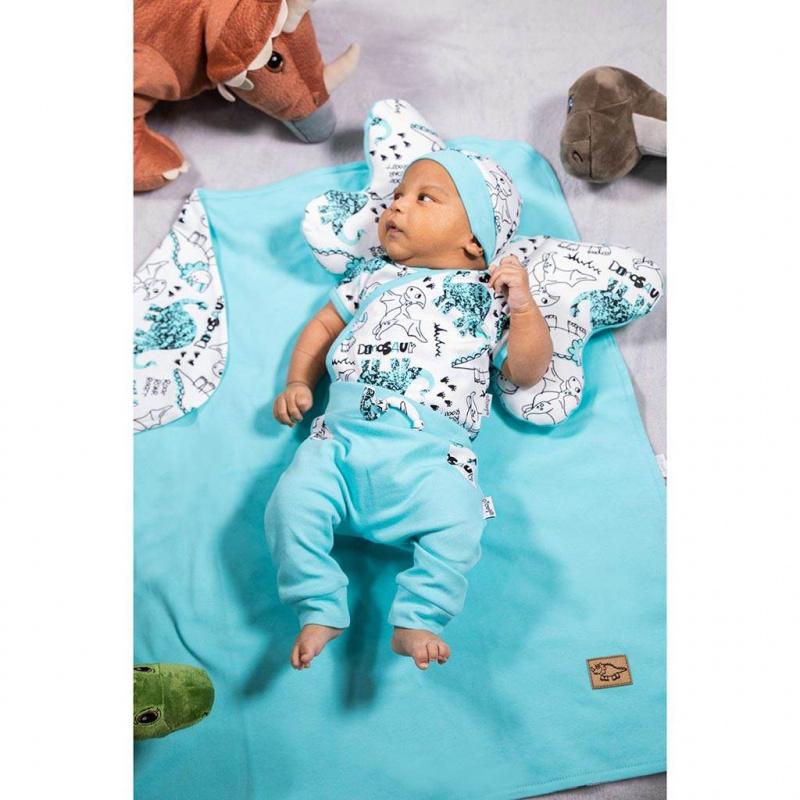Dojčenské bavlnené body s bočným zapínaním Nicol Dinosaur